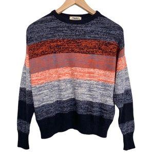 TNA Aritzia Multi Colour Cashmere Blend Sweater